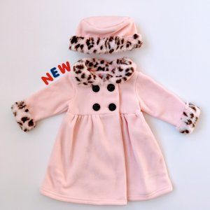 ❄️NWT❄️ Girls Fleece Coat 6/9M
